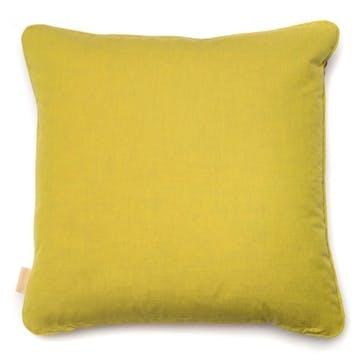 Grey Stucco Kaleidoscope, Square Velvet Cushion