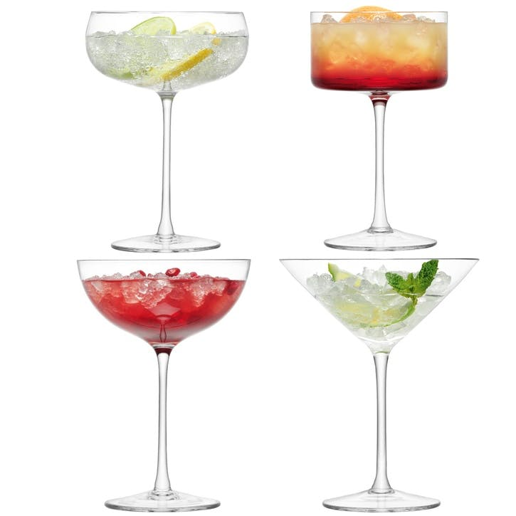 LSA Lulu Cocktail Glass Assorted, Set of 4