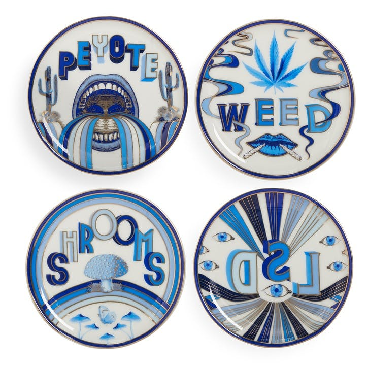 Druggist Coasters, Set of 4