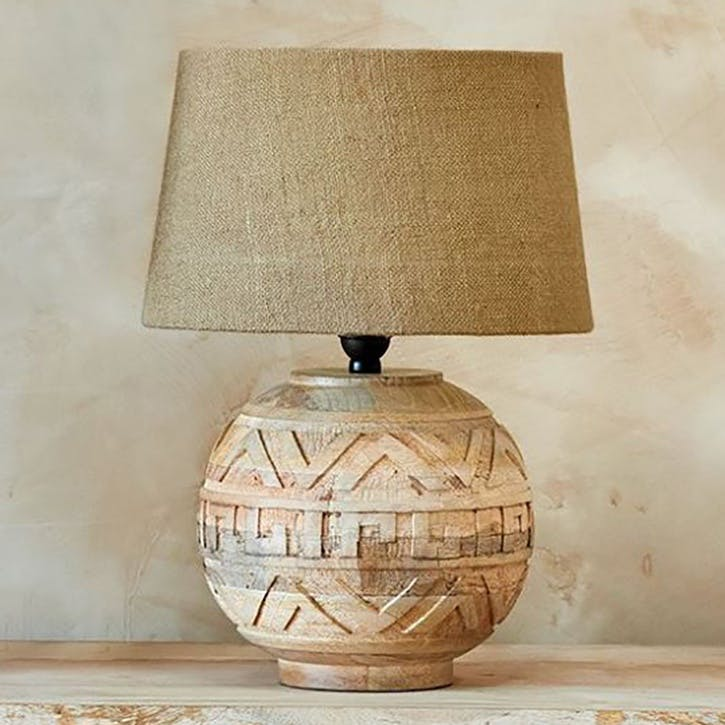 Ruanda Mango Wood Lamp - Small