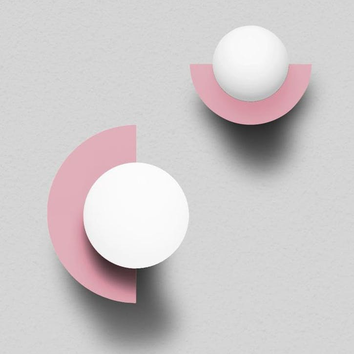 Large C, Plug in Wall Lamp, H37 x W30 x D29cm, Pink