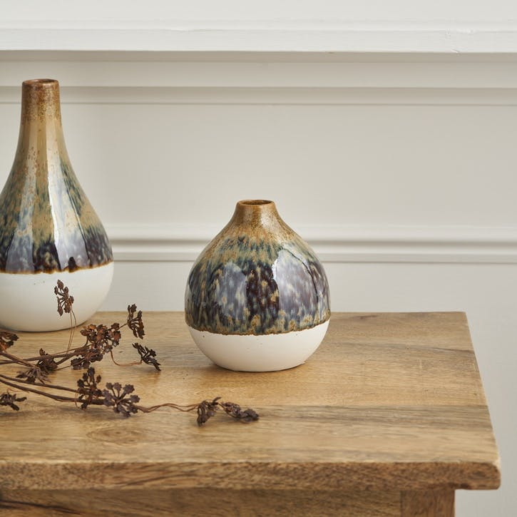Two Tone Natural Round Vase