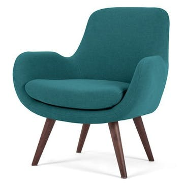 Moby Accent Chair, Mineral Blue
