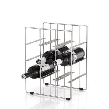 Wine Rack, Small, Matt Silver