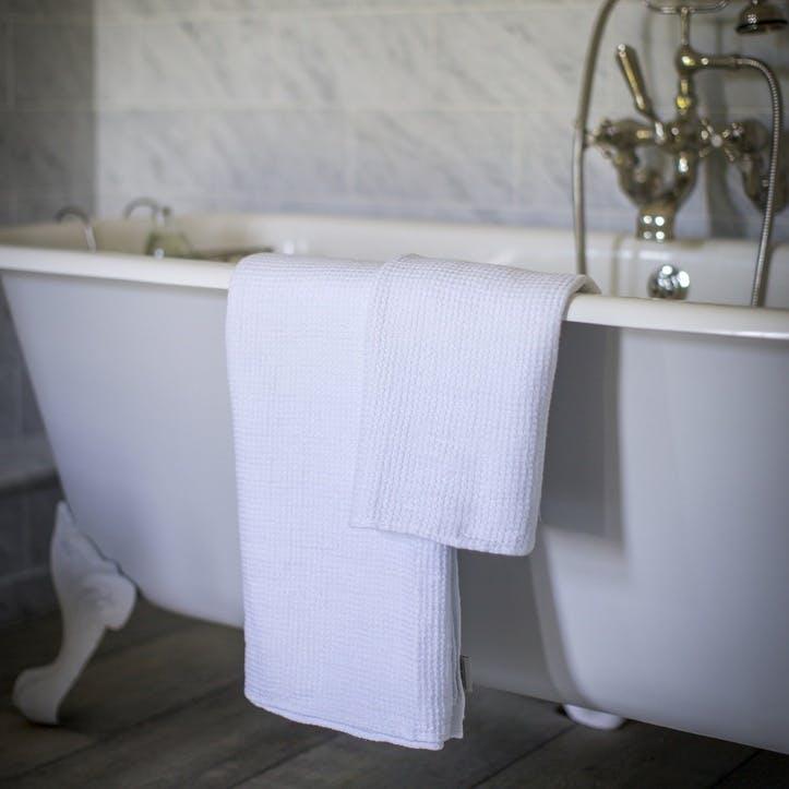 Waffle Bath Towel, White