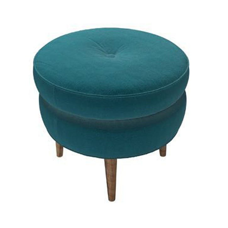 The Felix, Deep Turquoise Pure Cotton Matt Velvet