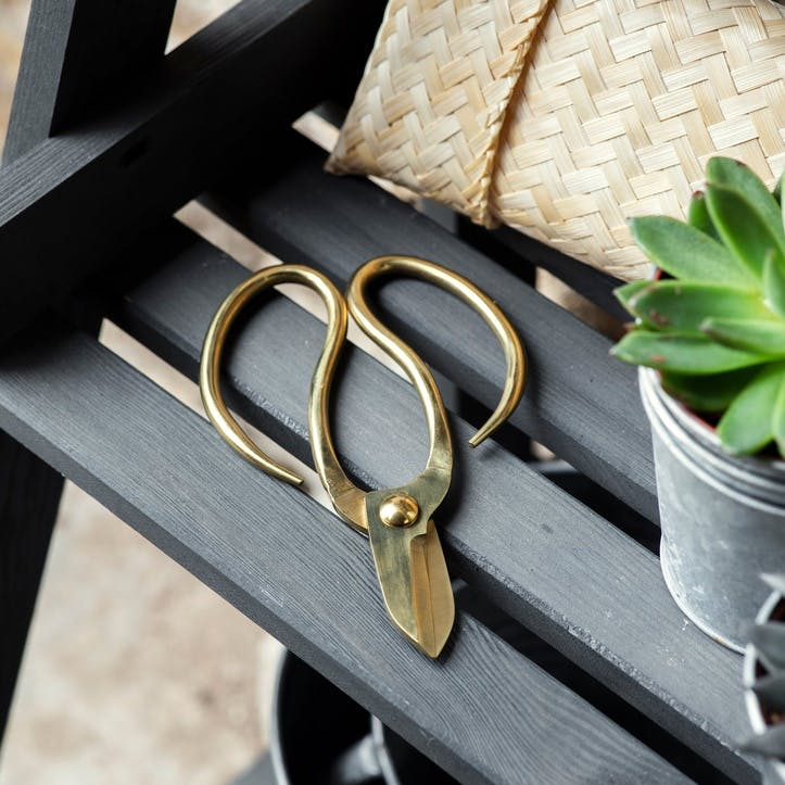 Garden Scissors In Bamboo Bag