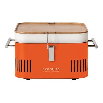 Cube Charcoal Portable Barbeque, Orange
