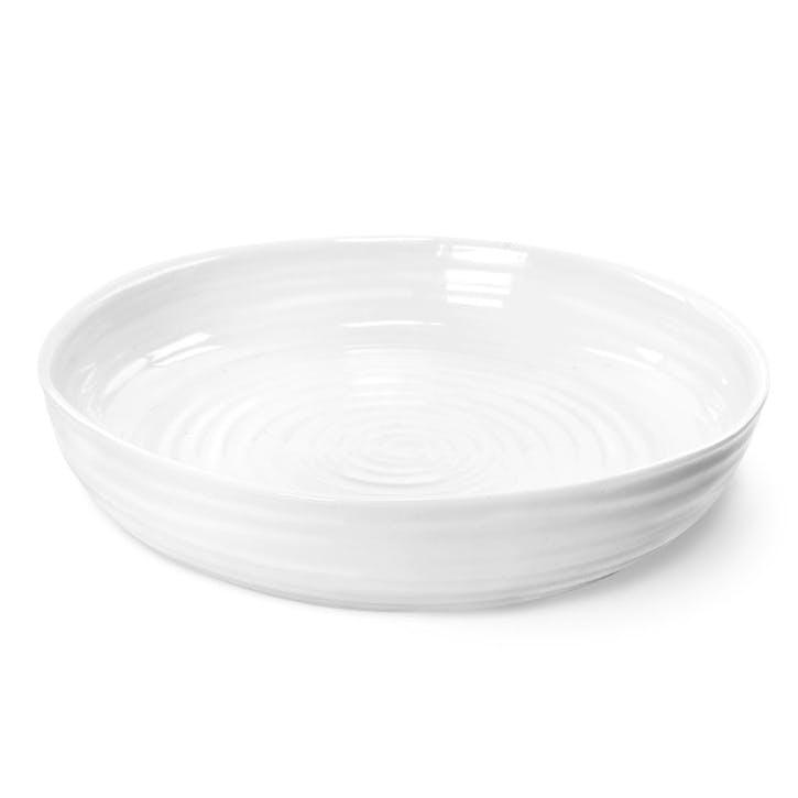 Round Roasting Dish; White