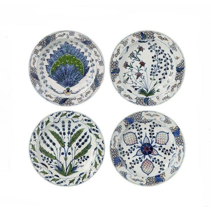 Isphahan Porcelain Plates, Set of Four
