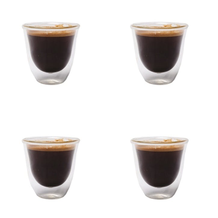 Jack Double Walled Glass Espresso Cup, Set of 4