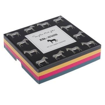 'Zebra' Coasters, Set of 4
