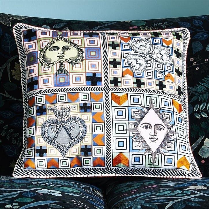 Poker Face Multicolore Cushion