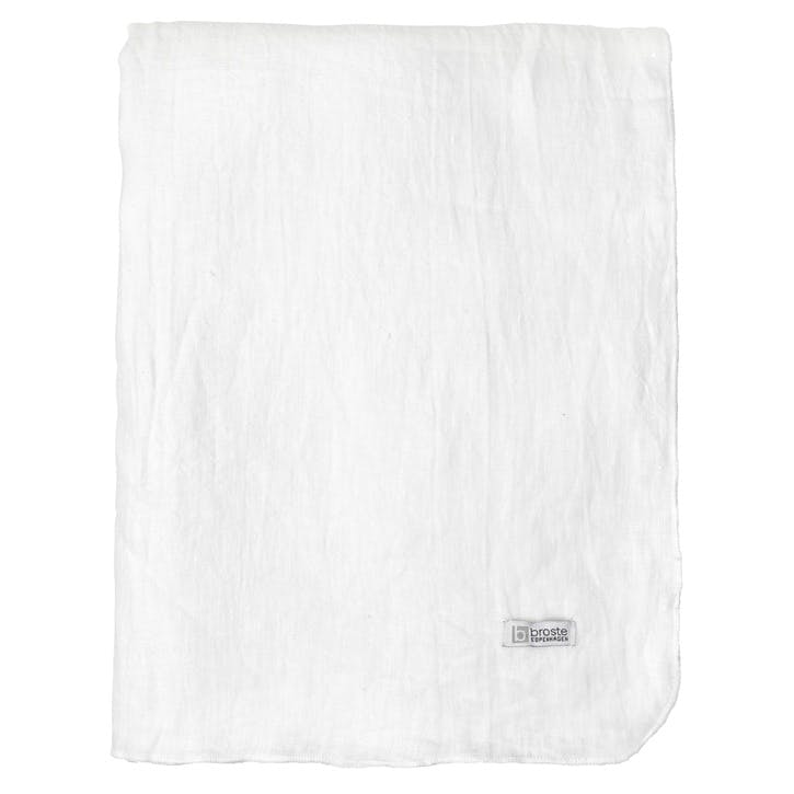 Jewel Linen Tablecloth, Pure White