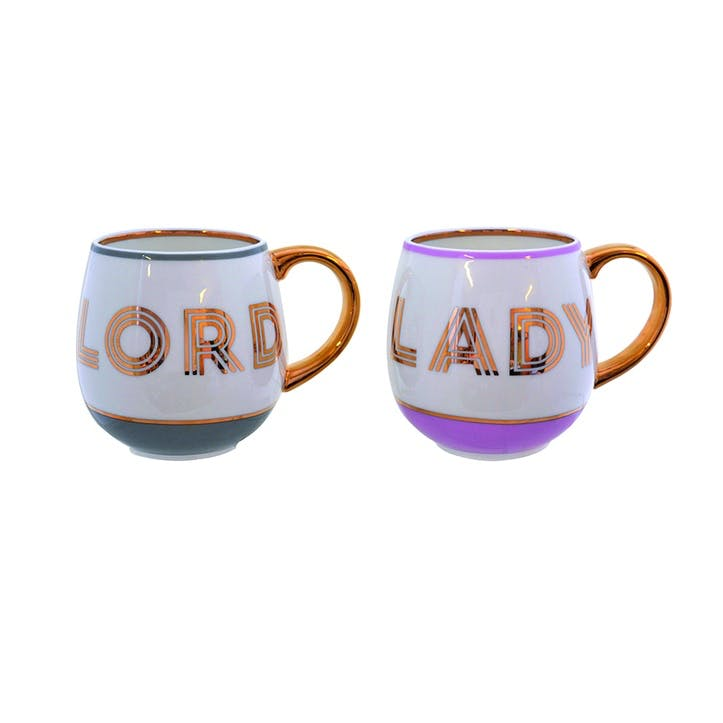 Lord & Lady Library Mug Set