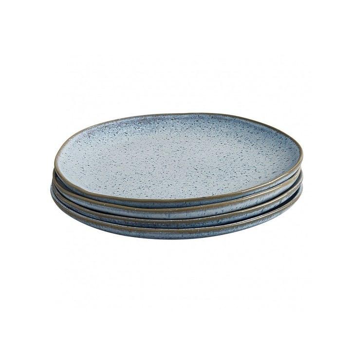 Olmo Side Plate, Set of 4, Light Blue