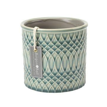 Morocco Glazed Plant Pot, Large