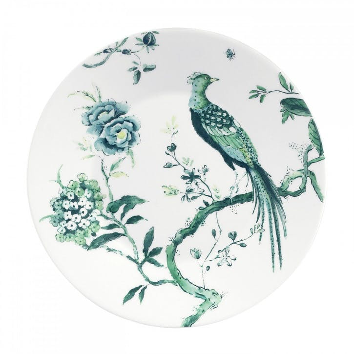 Chinoiserie Salad Plate, White