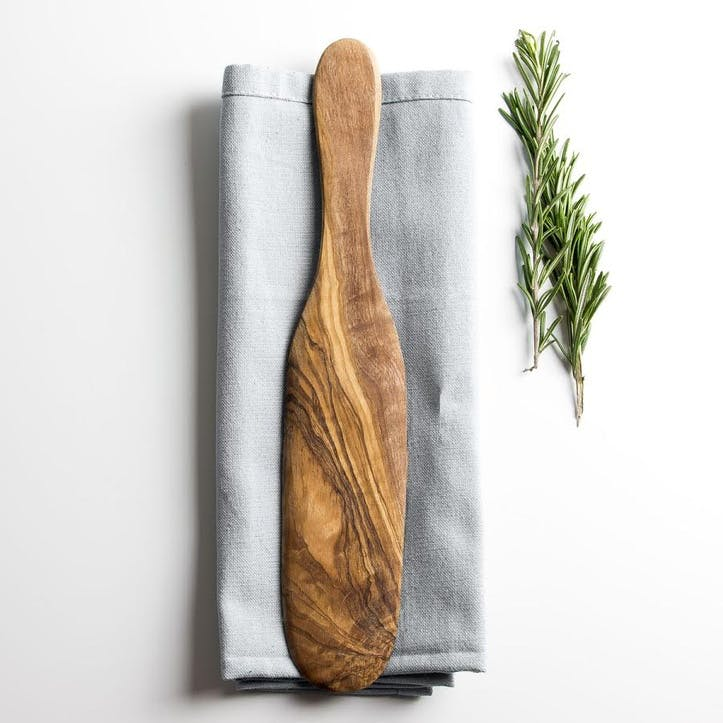 Traditional Olive Wood Pancake & Omelette Spatula - 29cm