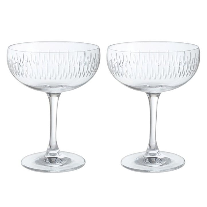 Limelight Mitre Champagne Saucer, Set of 2