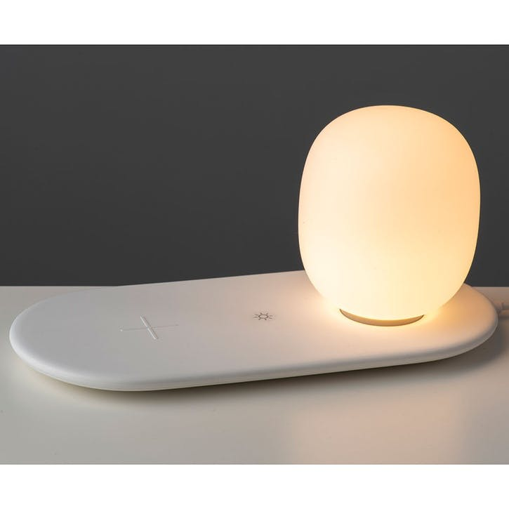 Aurora Wireless Charging Light, White
