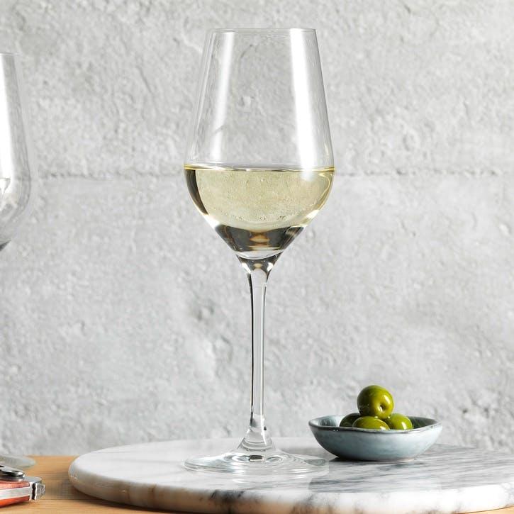 Set of 4 Classic White Wine Glasses