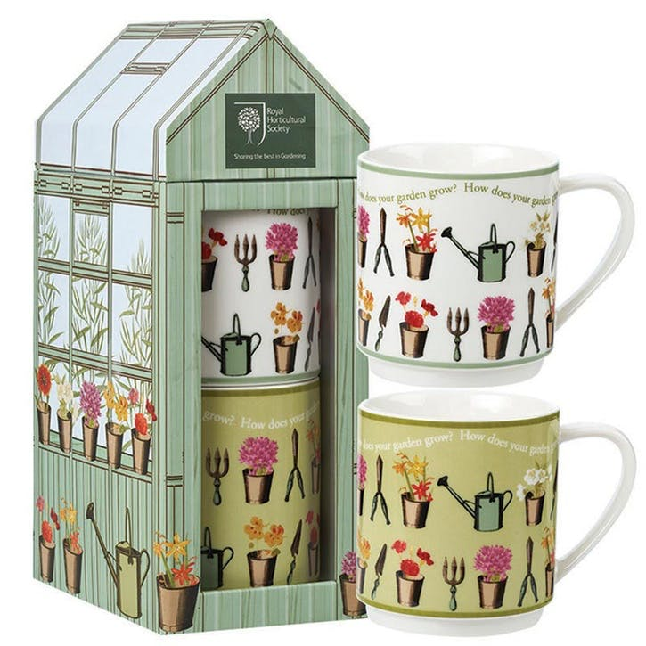 Greenhouse Stacking Mugs, Set of 2