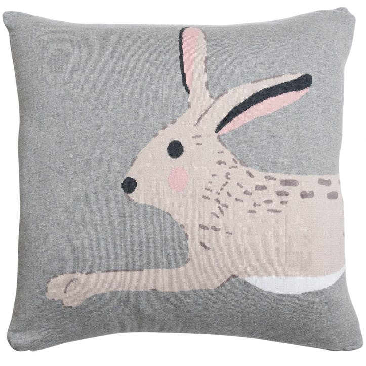 'Hare' Knitted Statement Cushion