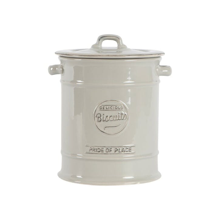 Pride Of Place Large Biscuit Jar, Cool Grey