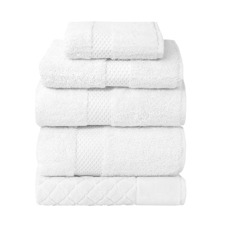 Etoile Hand Towel, Blanc