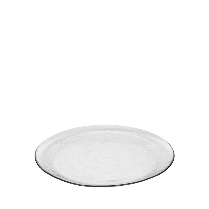 Hammered Plate, Clear