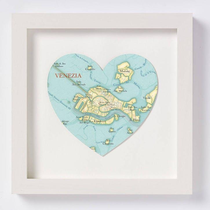 Venice Map Print, 28cm