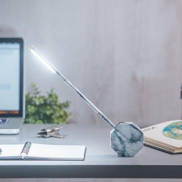 Octagon One Desk Lamp, 38cm, Marble