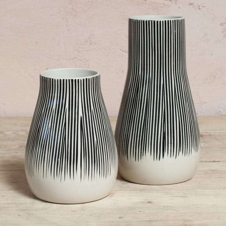 Matamba Ceramic Vase - Large; Lines