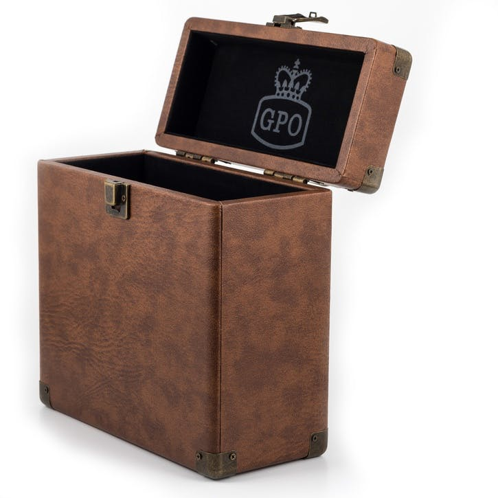 "12"" Vinyl Case; Brown"