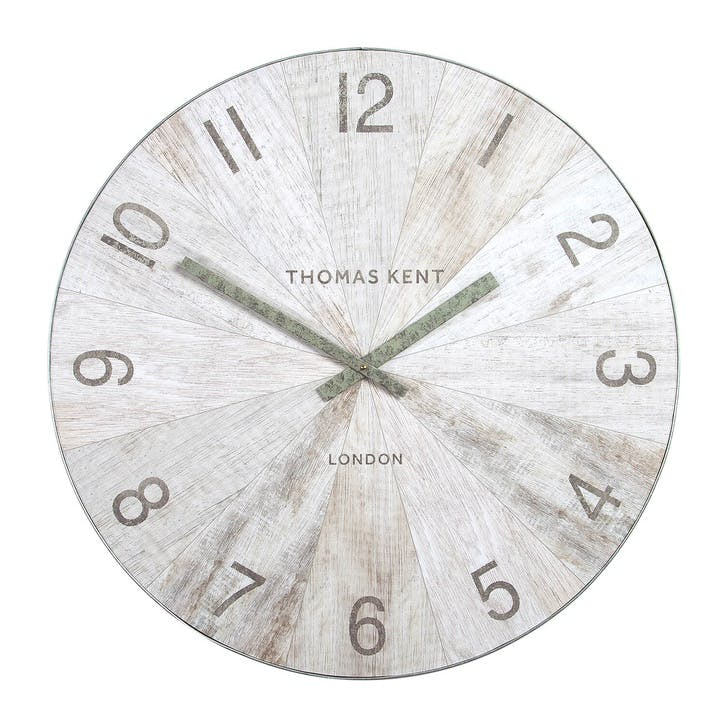 Wharf Clock, 76cm, Pickled Oak