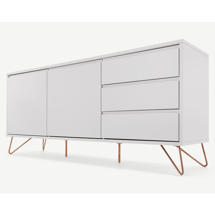 Elona, Sideboard, Grey and Copper