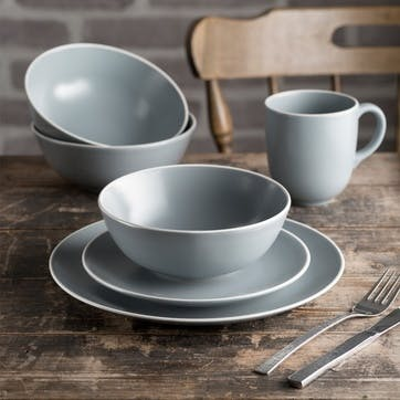 Classic Collection Set of 4 Mugs, Grey