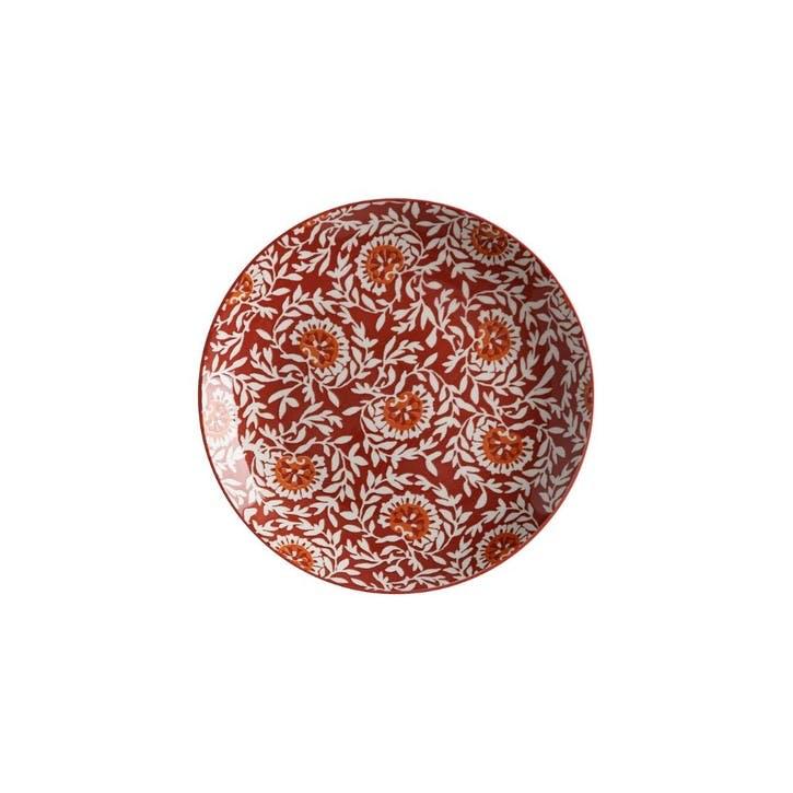 Boho Dinner Plate, Red