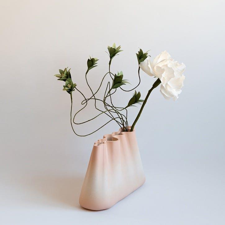 Jumony Wide Vase, Peach