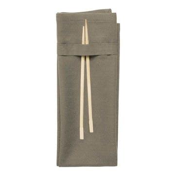 Herringbone Napkin, L50 x W40cm, Clay