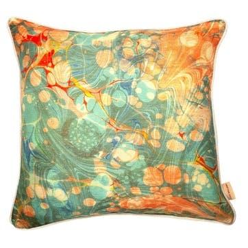 Fantasy Tapestry, Square Linen Cushion