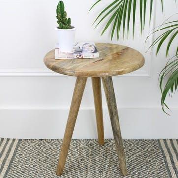 Lulu Round Tripod Table