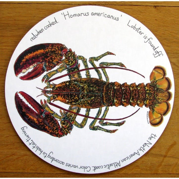 North American Lobster Tablemat - 28cm