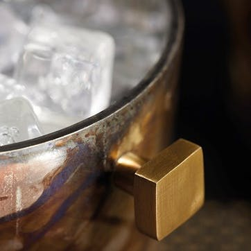 Mercury Fired Glass Ice Bucket