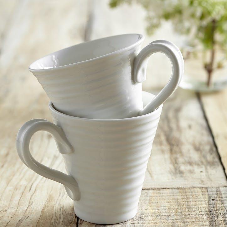 Mugs, Set of 2; White