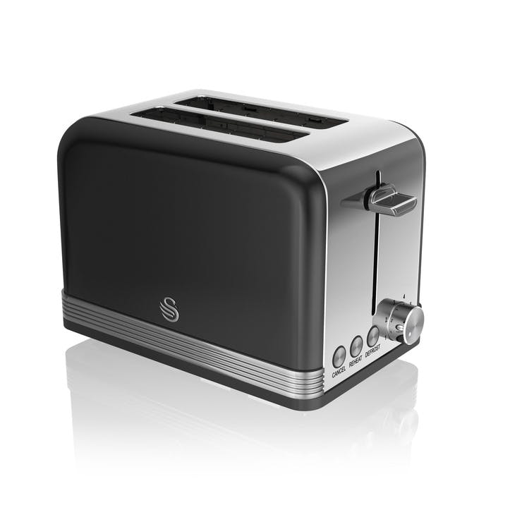 Retro 2-Slice Toaster, Black