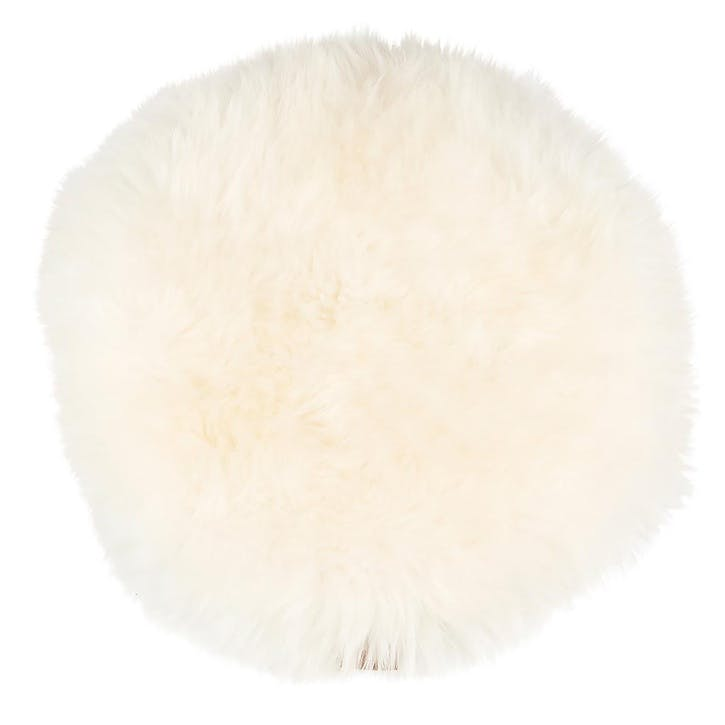 Moa Round Seat Cover, White