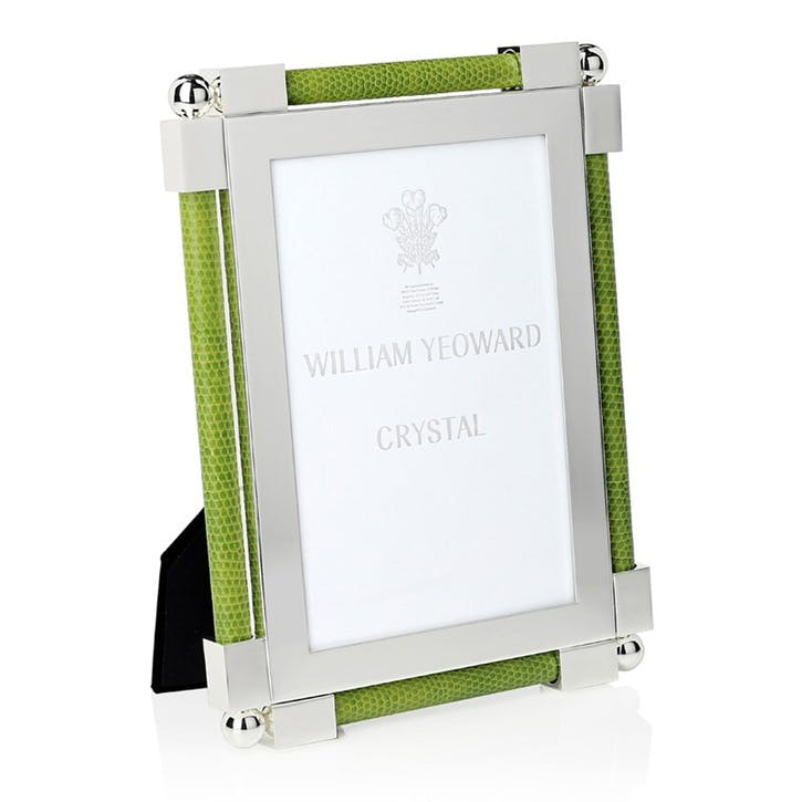 "Classic Lime Green Shagreen Photo Frame, 4""x6"""