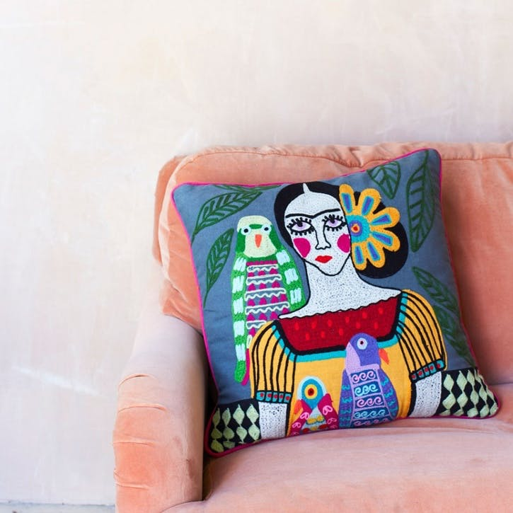 Mexicana Cushion in Grey